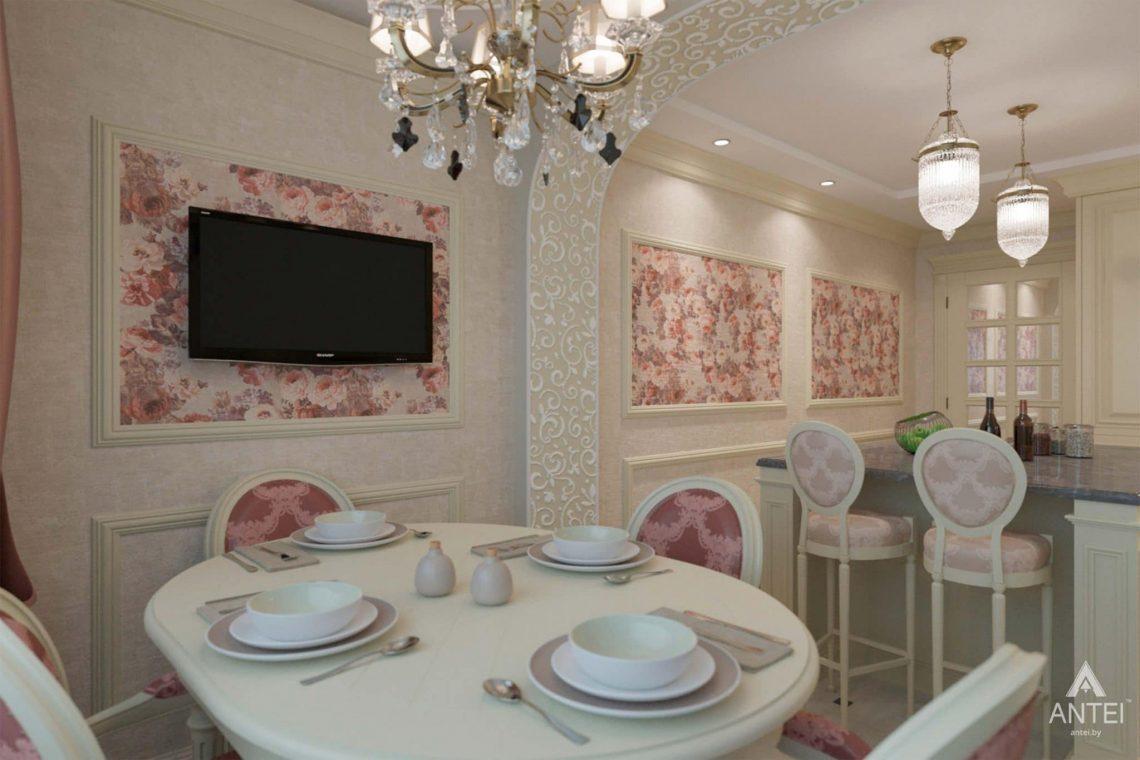 Дизайн интерьера квартиры в Гомеле, ул. Кожара, 59а - кухня фото №2