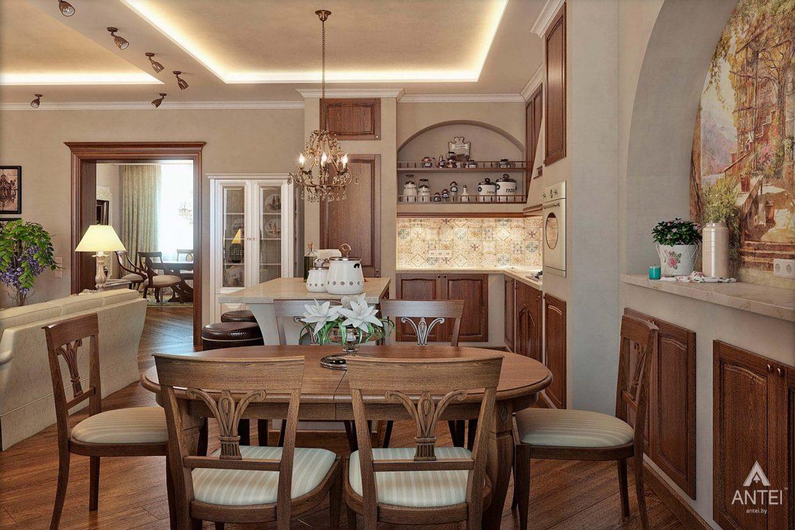 Дизайн интерьера таунхауса в России - кухня-гостиная фото №2