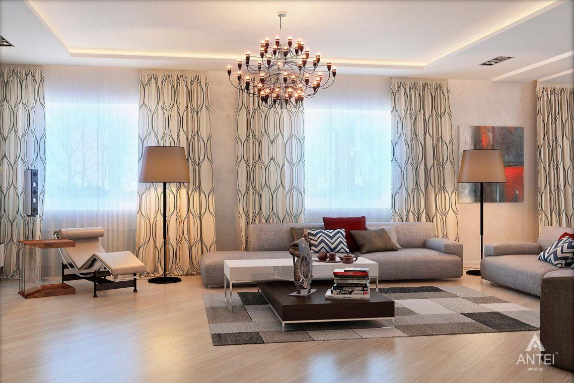Дизайн интерьера загородного дома в Гомеле - гостиная фото №3