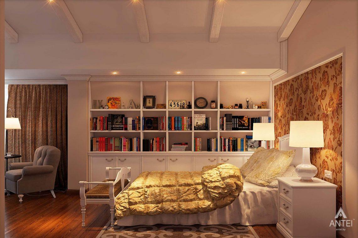 Дизайн интерьера таунхауса в России - спальня фото №2