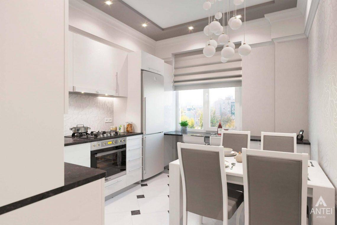 Дизайн интерьера квартиры в Минске, ул.Короля - кухня фото №2