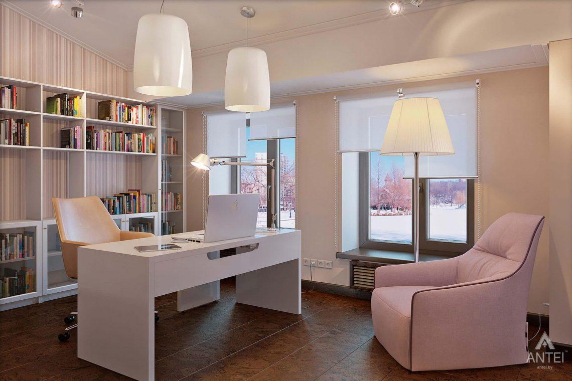 Дизайн интерьера загородного дома в Сургуте, Россия -кабинет фото №1