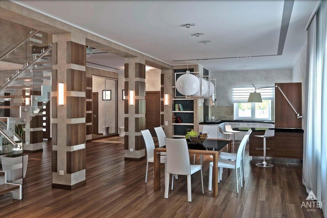 Дизайн интерьера загородного дома в Гомеле - кухня фото №1