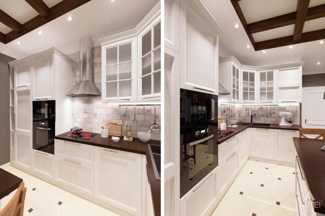 Дизайн интерьера трехкомнатной квартиры в Гомеле, ул.Тельмана - кухня-гостиная фото №6