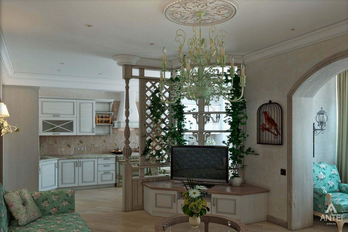 Дизайн интерьера таунхауса в России - гостиная фото №1