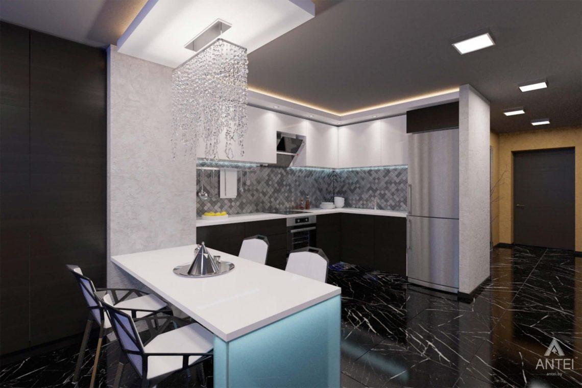 Дизайн интерьера квартиры-студии в Гомеле, ул. Кожара, 59а - кухня фото №2