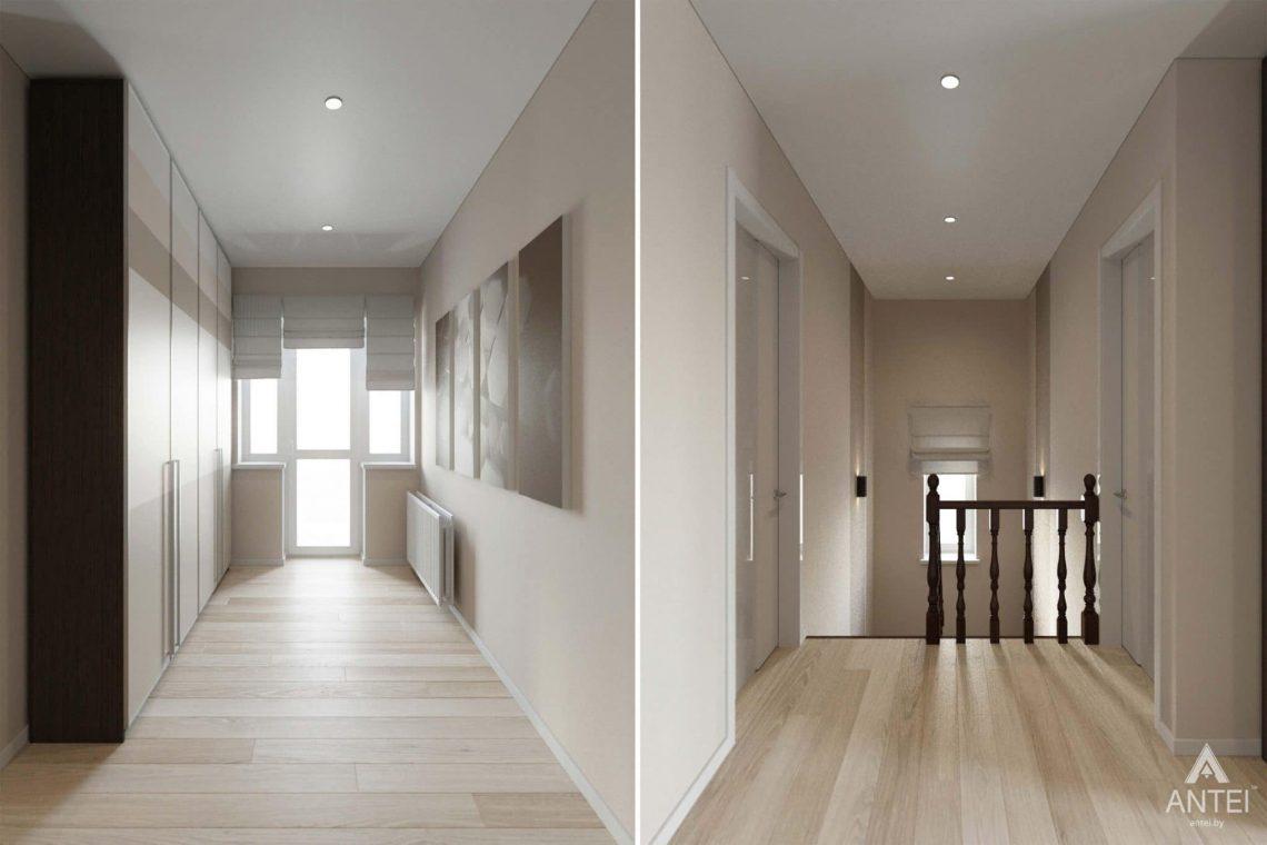 Дизайн интерьера загородного дома в п.Цегельня, Гомельский р-н - холл 2 этажа фото №1