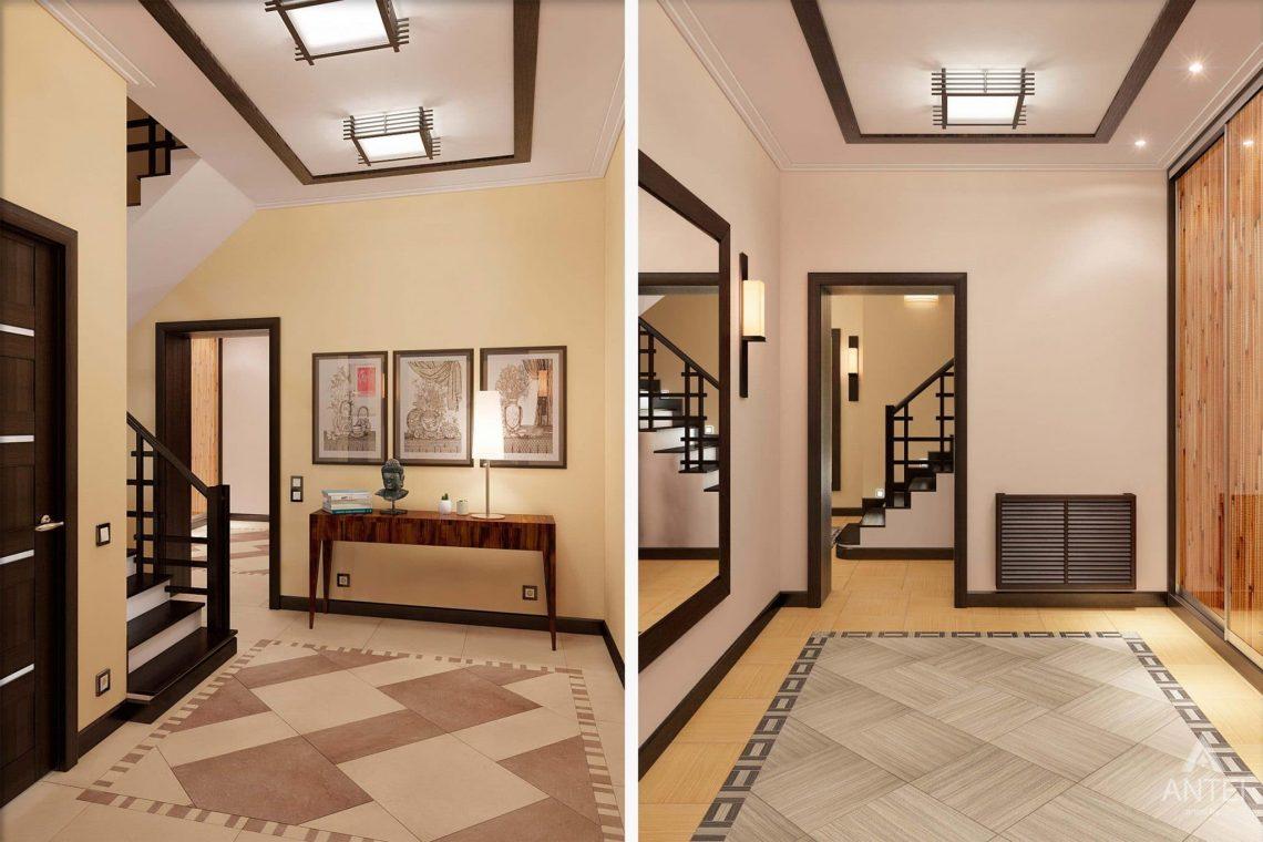Дизайн интерьера загородного дома в Сургуте, Россия - прихожая фото №2