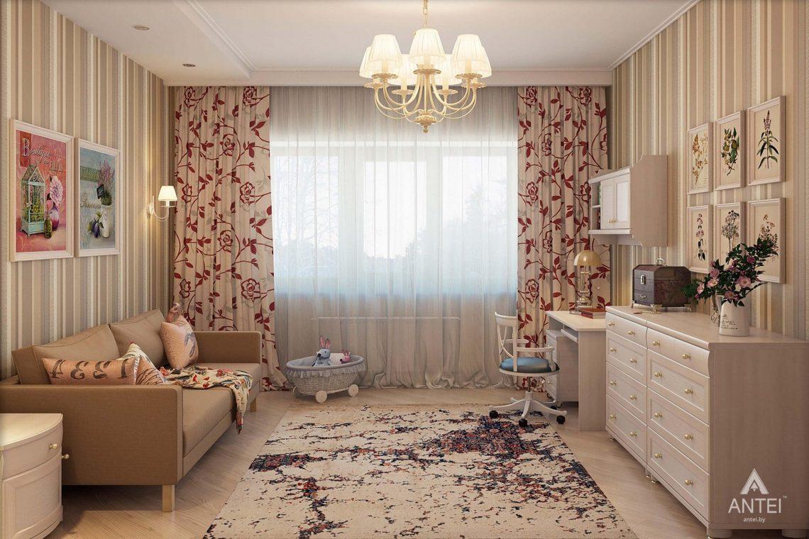 Дизайн интерьера таунхауса в России - детская комната для девочки фото №1