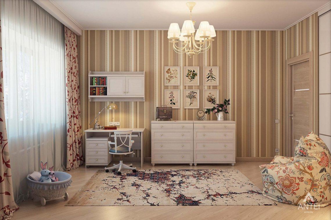 Дизайн интерьера таунхауса в России - детская комната для девочки фото №3