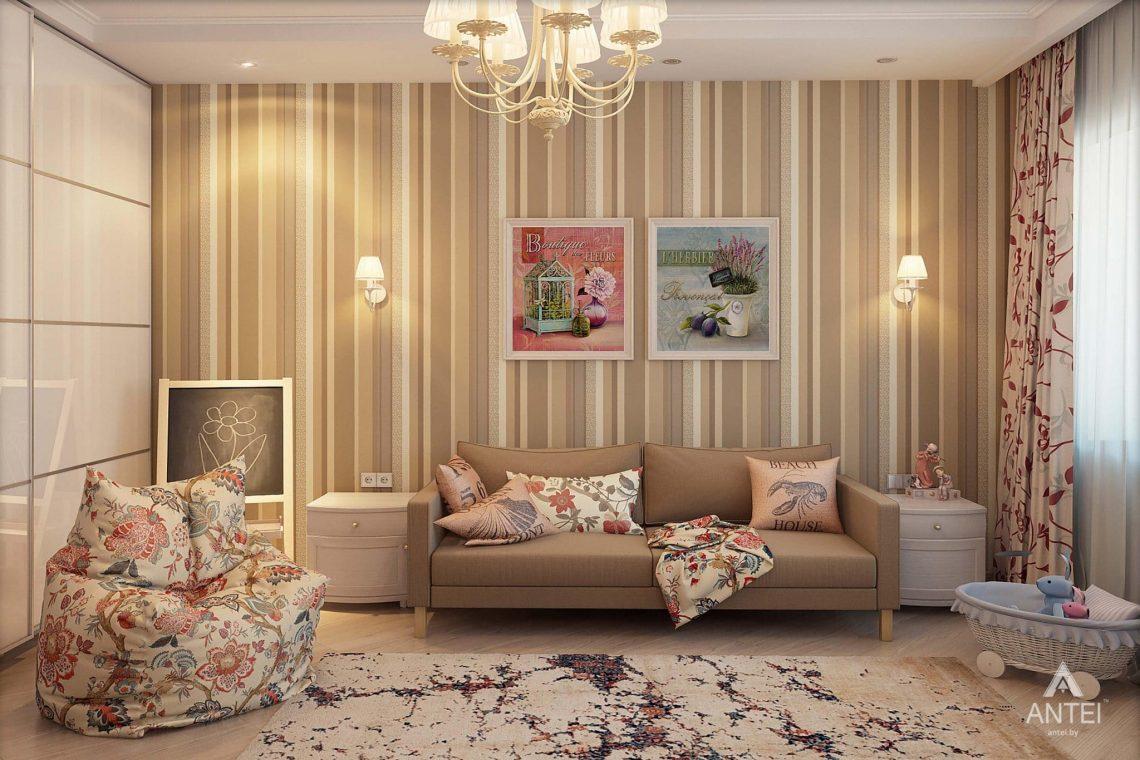 Дизайн интерьера таунхауса в России - детская комната для девочки фото №4