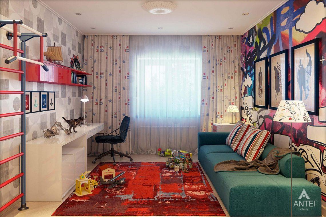 Дизайн интерьера таунхауса в России - детская комната для мальчика фото №1