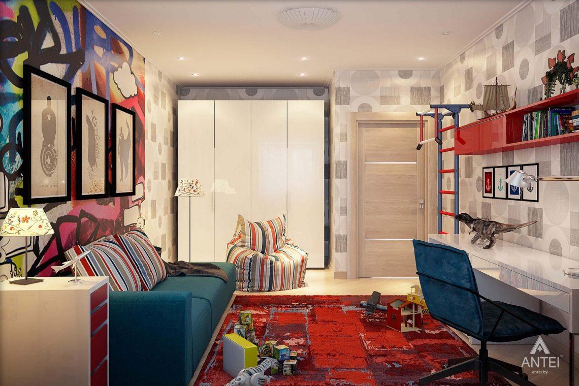 Дизайн интерьера таунхауса в России - детская комната для мальчика фото №3