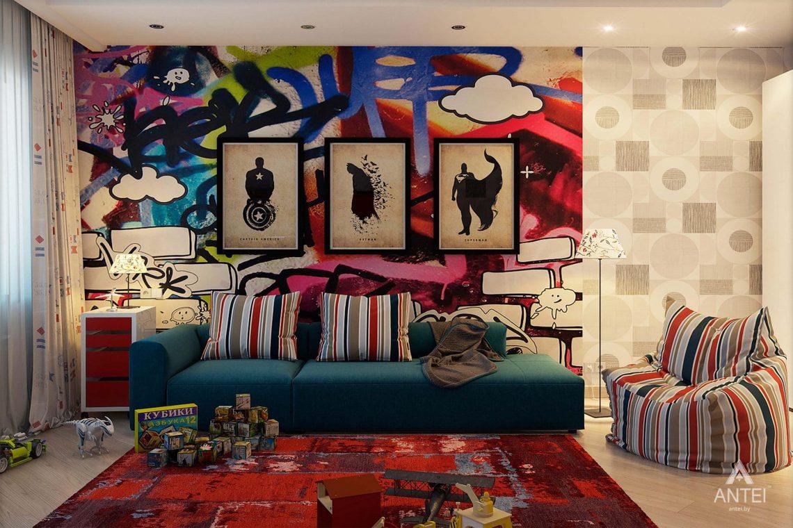 Дизайн интерьера таунхауса в России - детская комната для мальчика фото №2
