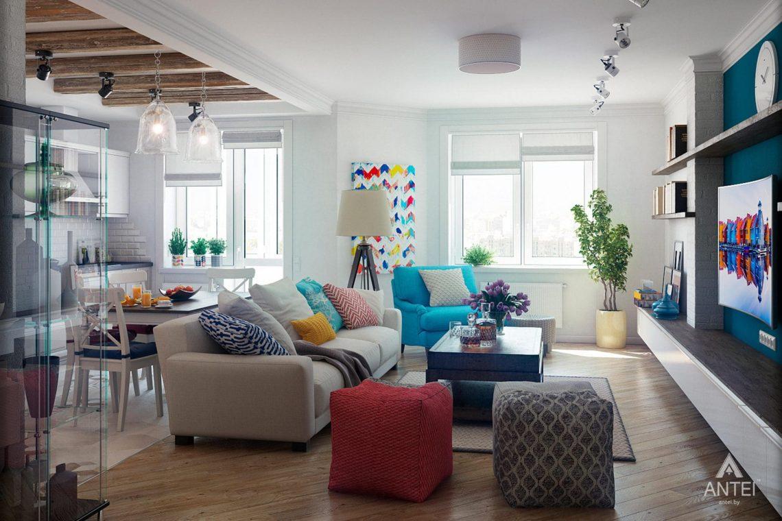Дизайн интерьера квартиры в Минске - гостиная фото №3