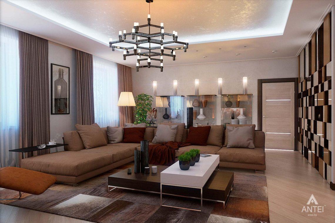 Дизайн интерьера таунхауса в России - гостиная фото №2