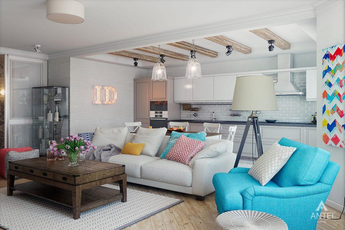 Дизайн интерьера квартиры в Минске - гостиная фото №1