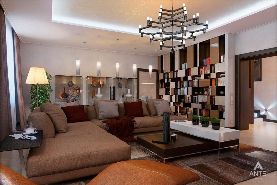 Дизайн интерьера таунхауса в России - гостиная фото №3
