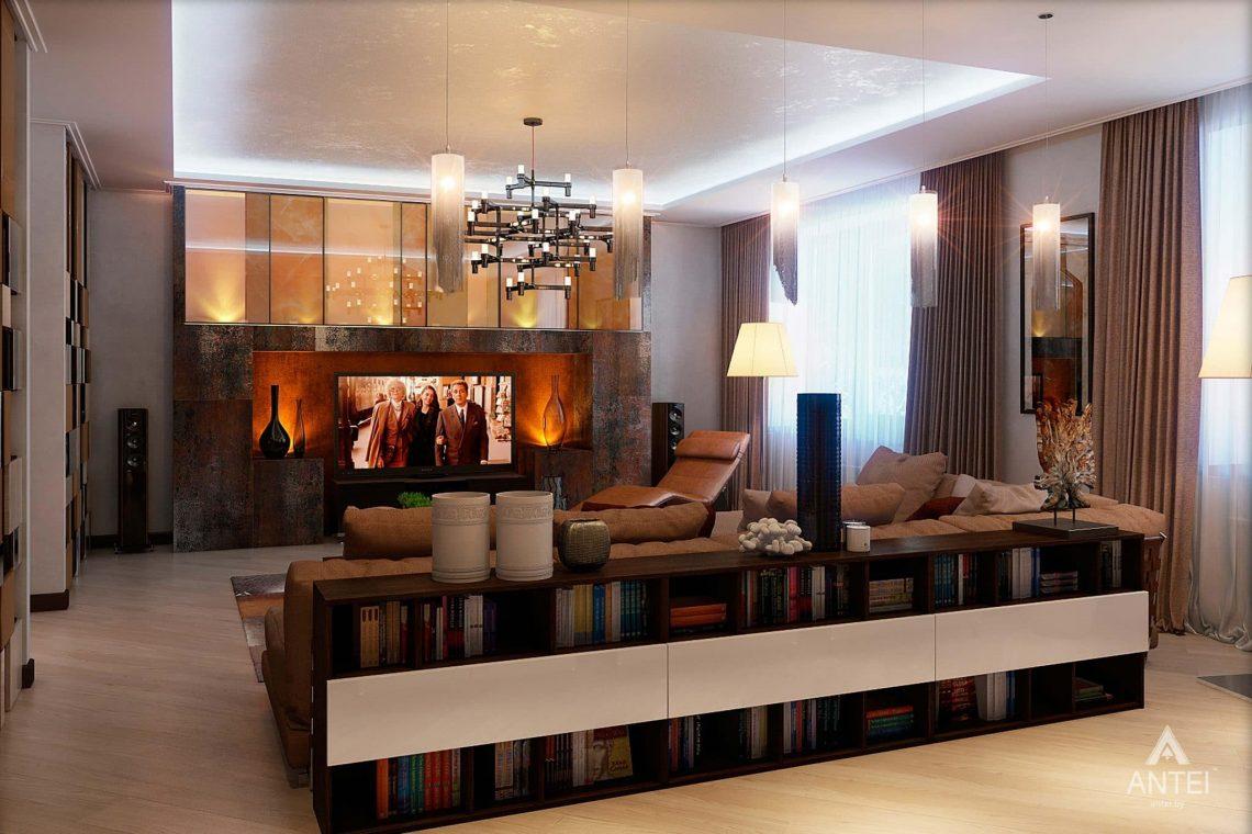 Дизайн интерьера таунхауса в России - гостиная фото №4