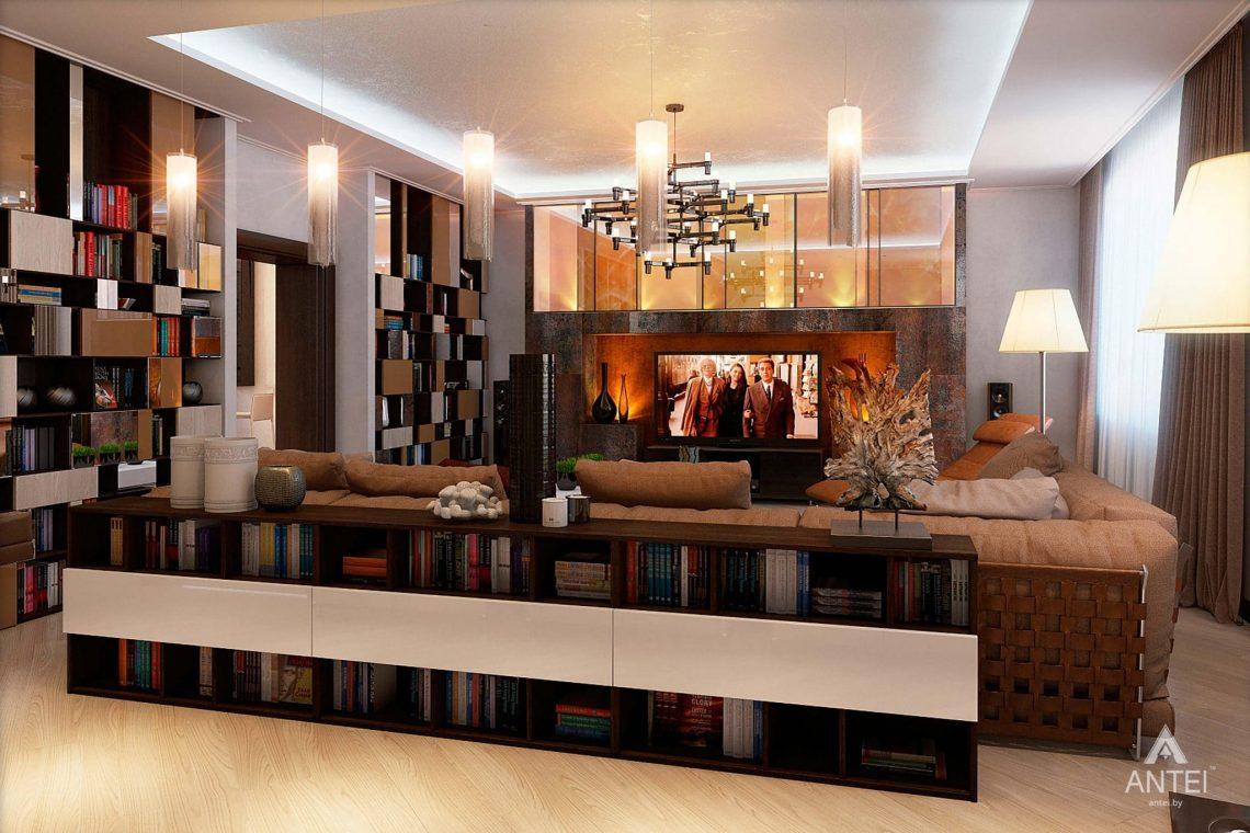 Дизайн интерьера таунхауса в России - гостиная фото №5