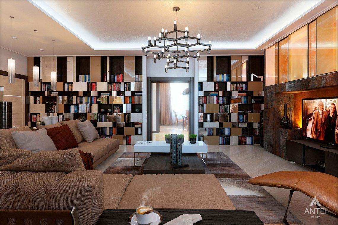 Дизайн интерьера таунхауса в России - гостиная фото №6