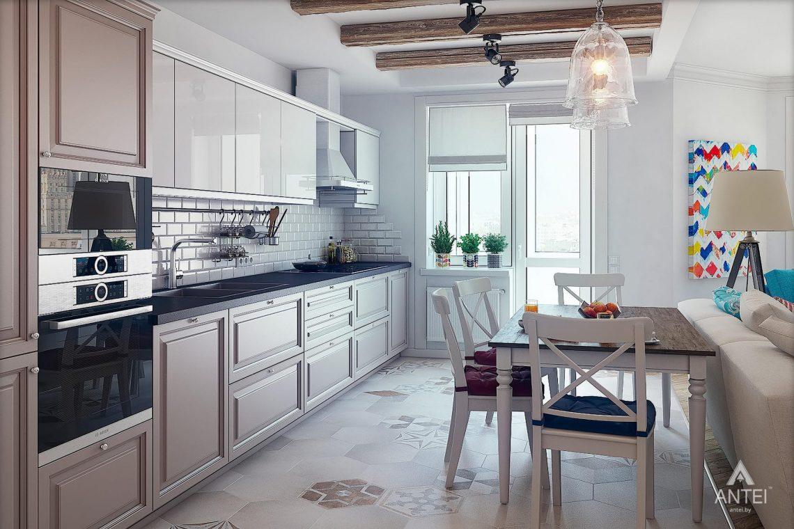 Дизайн интерьера квартиры в Минске - кухня фото №1