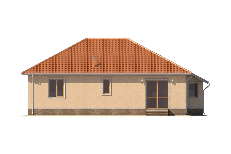 Фасад одноэтажного дома «КО-6» - сзади