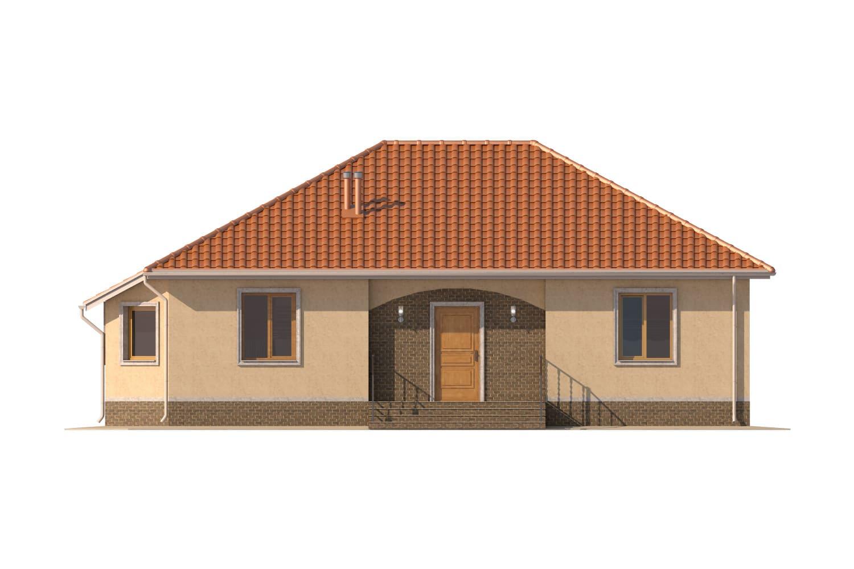 Фасад одноэтажного дома «КО-6» - спереди