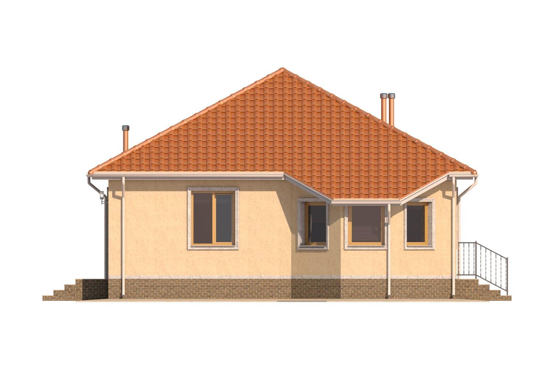Фасад одноэтажного дома «КО-6» - слева