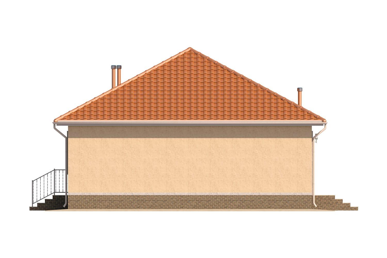 Фасад одноэтажного дома «КО-6» - справа