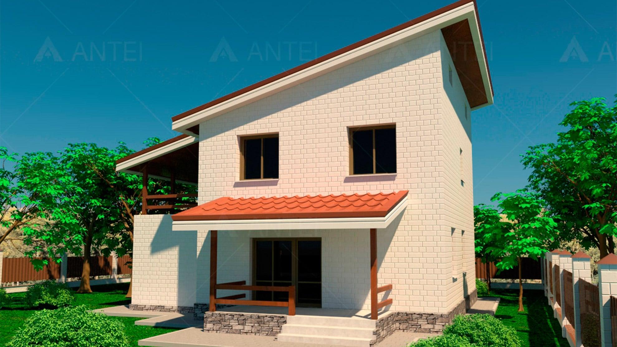 Проект двухэтажного дома с гаражом и террасой «КД-15» - фото №2