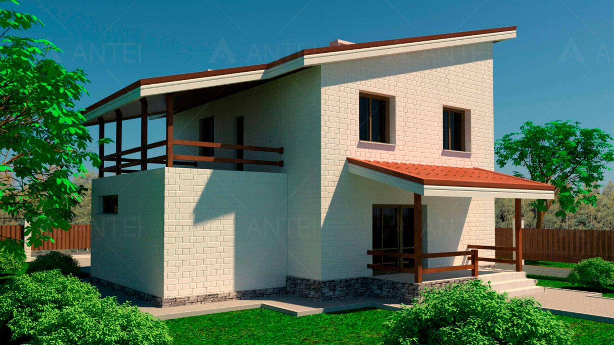 Проект двухэтажного дома с гаражом и террасой «КД-15» - фото №3