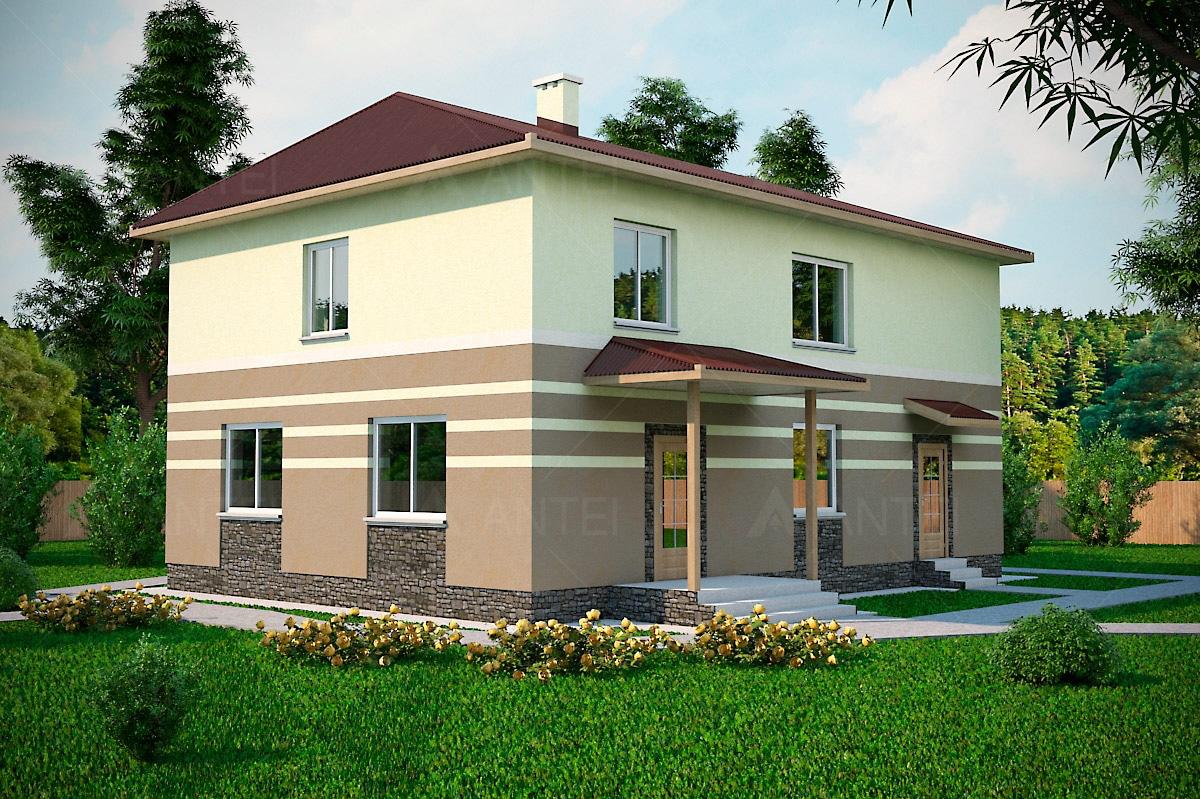 Проект двухэтажного дома с гаражом и террасой «КД-16» - фото №2