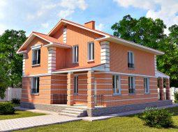 Проект двухэтажного дома с террасой «КД-17»