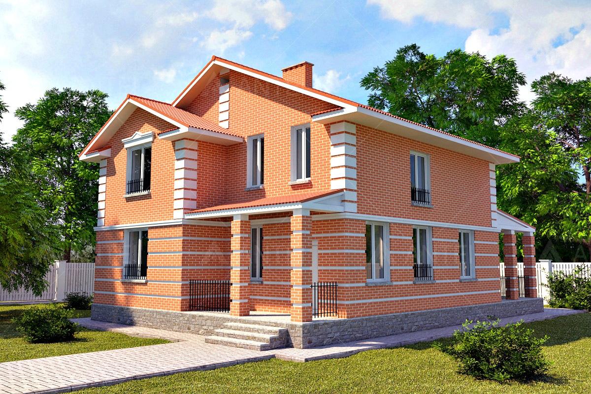 Проект двухэтажного дома с террасой «КД-17» - фото №1