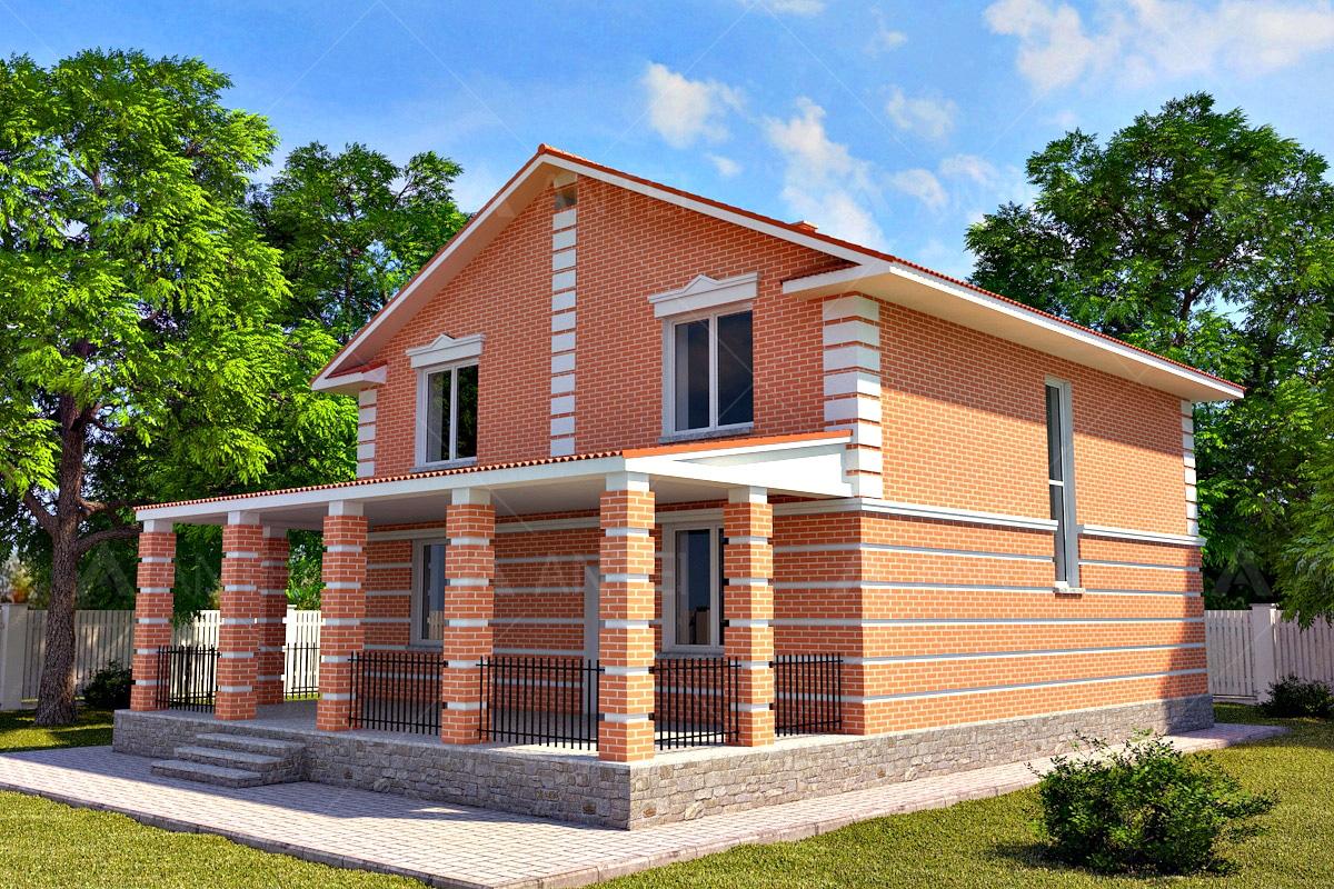 Проект двухэтажного дома с террасой «КД-17» - фото №2