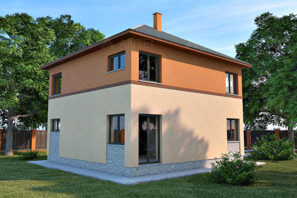 Проект двухэтажного дома с подвалом и верандой «КД-19» - фото №2
