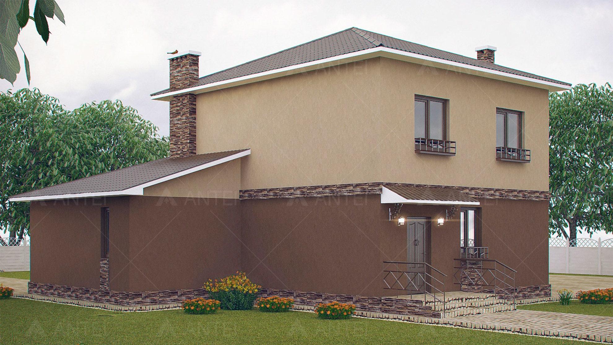 Проект двухэтажного дома с террасой «КД-27» - фото №2