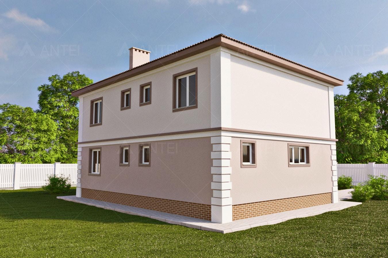 Проект двухэтажного дома с гаражом, террасой и балконом «КД-29» - фото №2