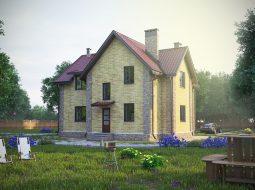 Проект мансардного дома с балконом «КМ-10»