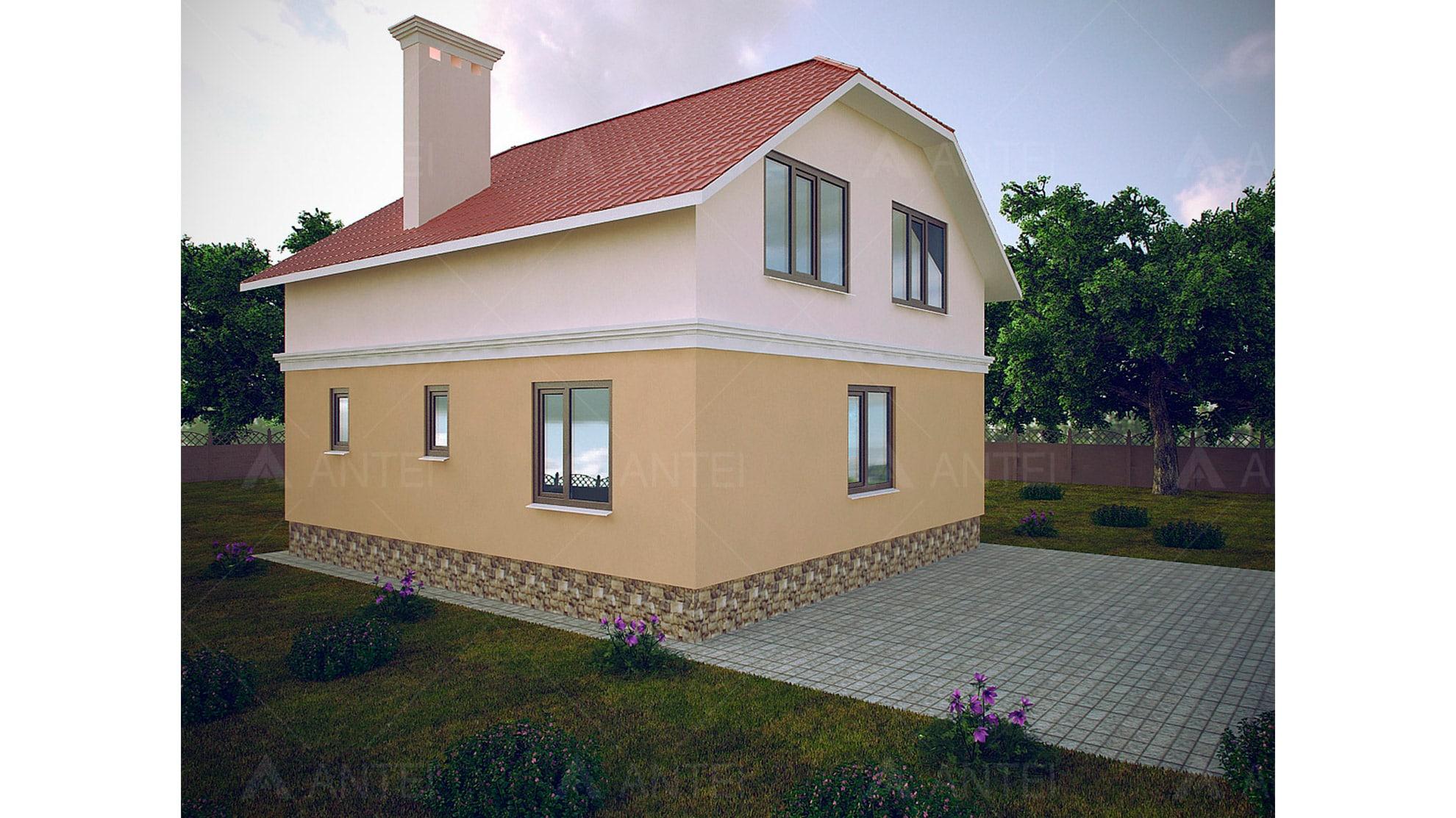 Проект мансардного дома с балконом «КМ-103» - фото №2