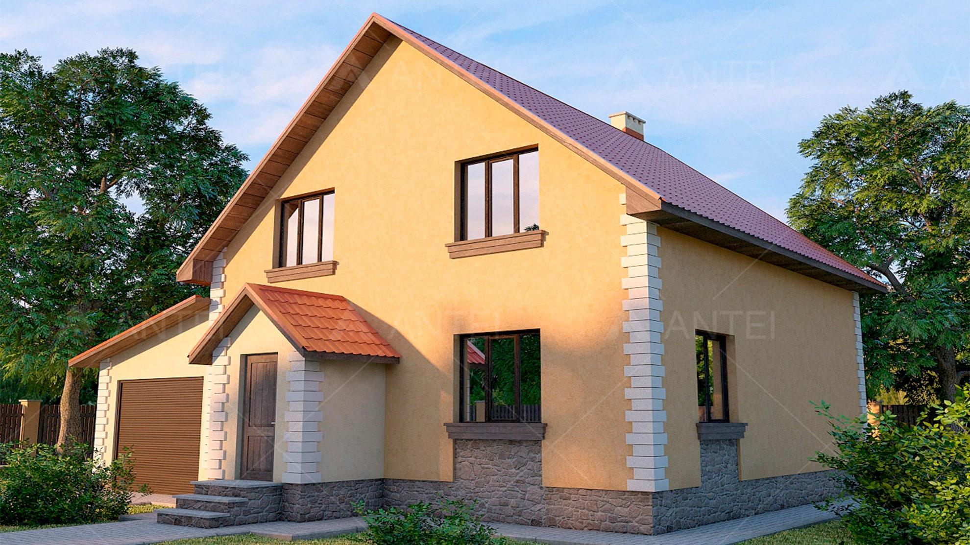 Проект мансардного дома «КМ-11» - фото №1