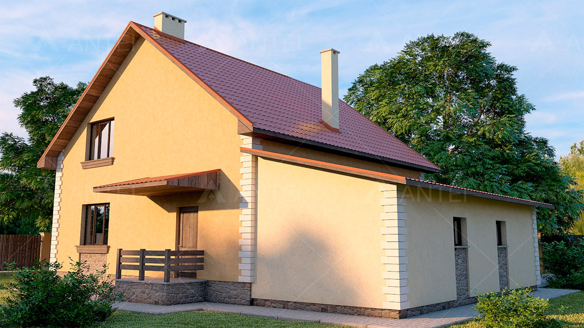 Проект мансардного дома «КМ-11» - фото №2