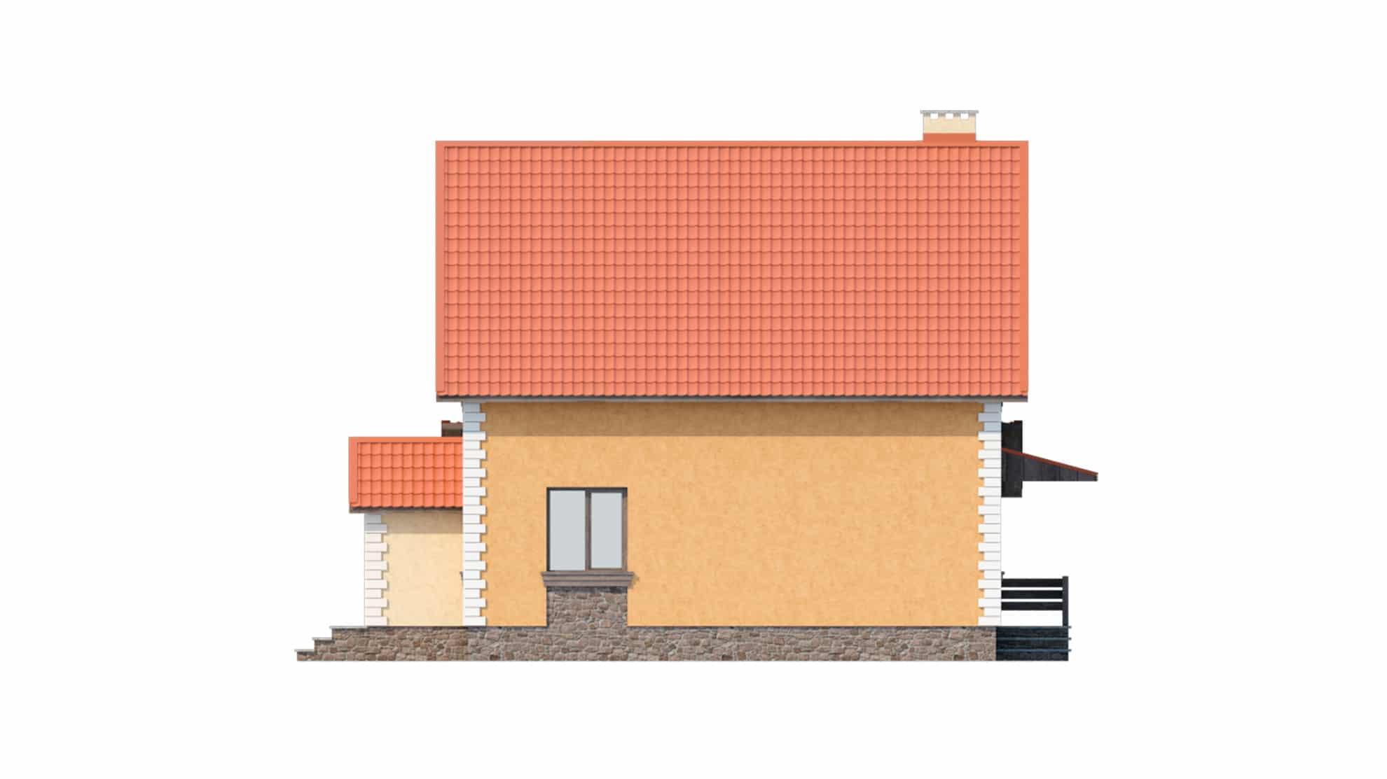 Фасад мансардного дома «КМ-11» - слева