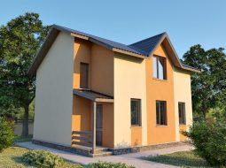 Проект мансардного дома «КМ-38»