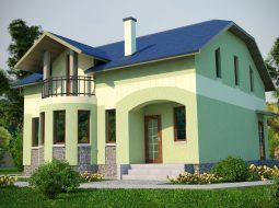 Проект мансардного дома «КМ-42»