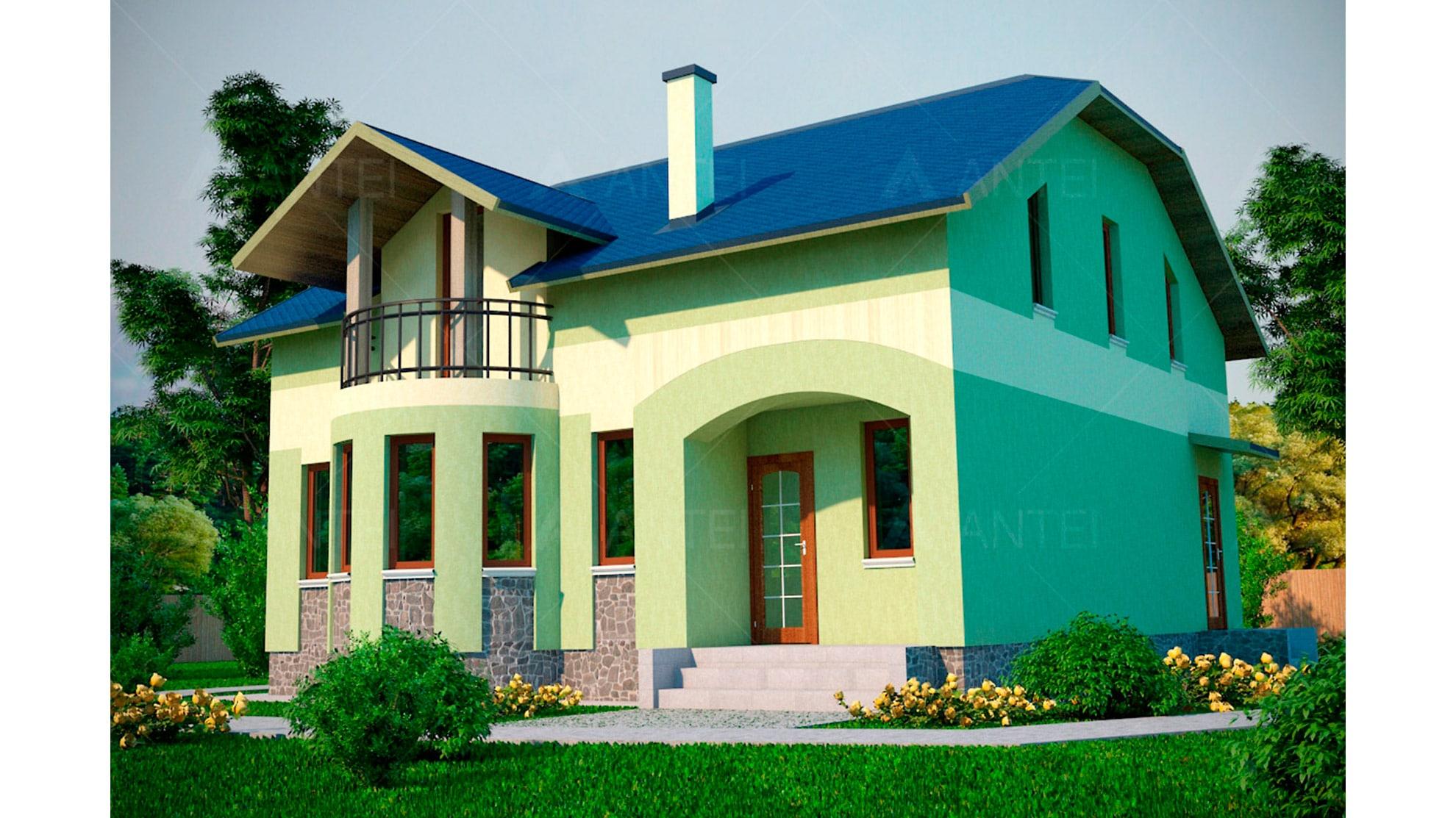 Проект мансардного дома «КМ-42» - фото №1