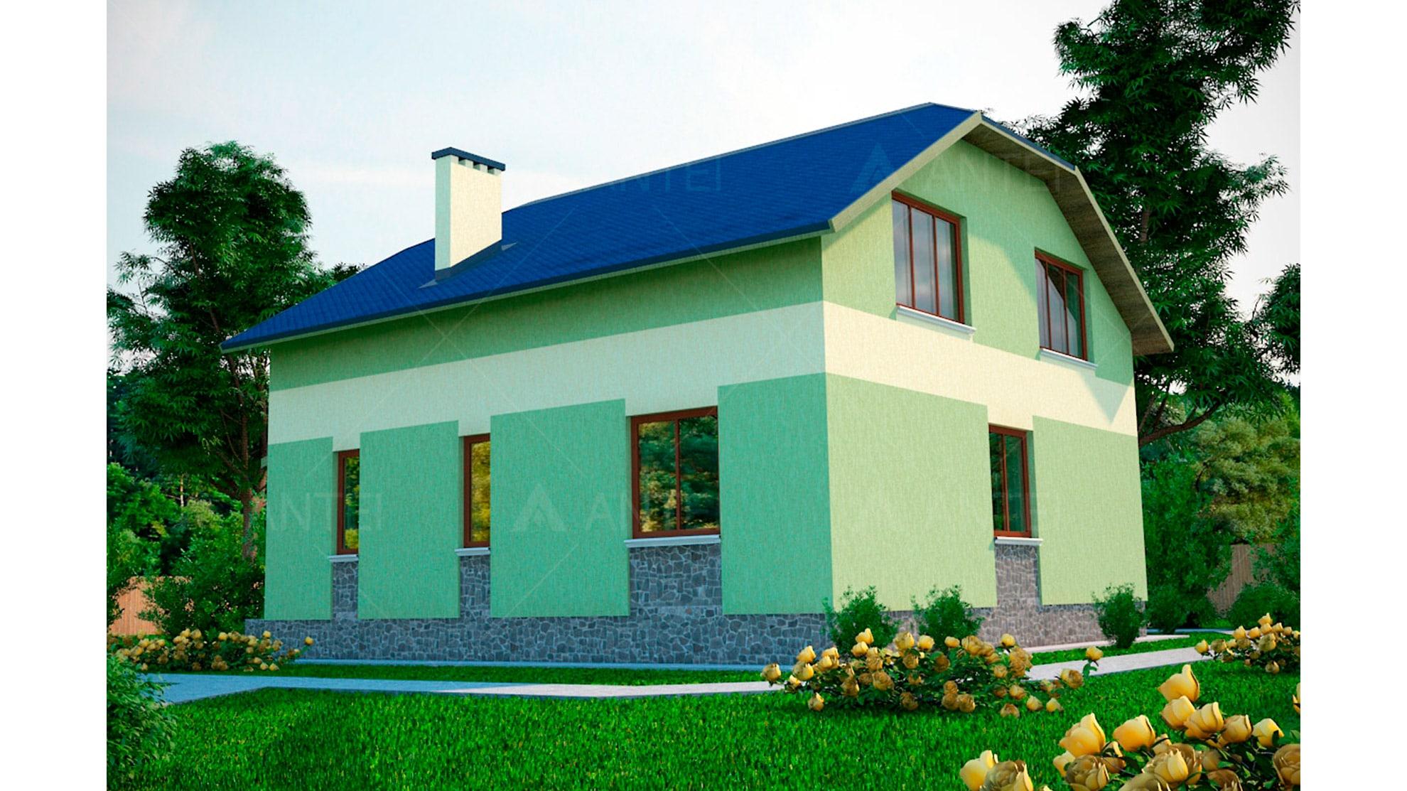 Проект мансардного дома «КМ-42» - фото №2