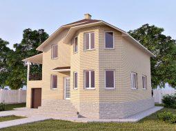 Проект мансардного дома с гаражом и цокольным этажом «КМ-45»