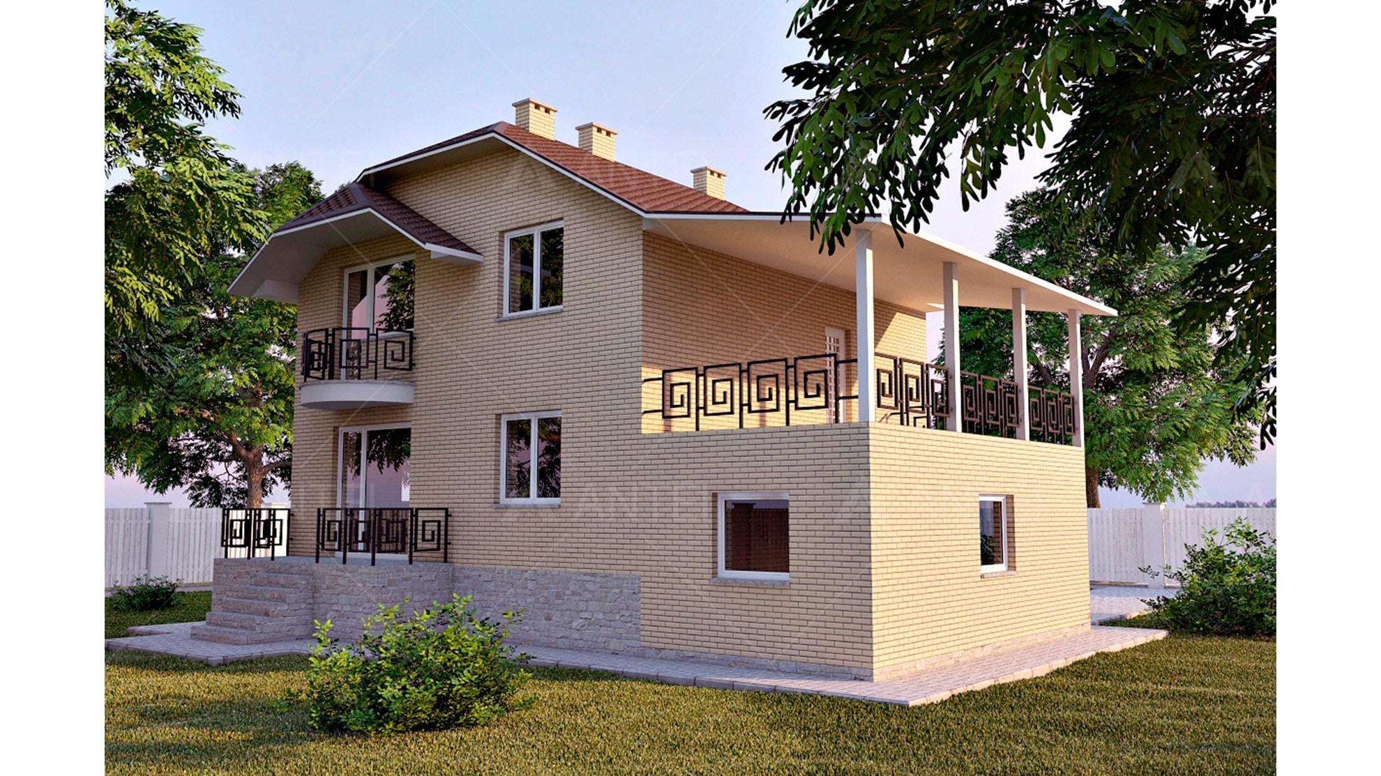 Проект мансардного дома с гаражом и цокольным этажом «КМ-45» - фото №2